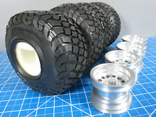 Aluminum Rims +Tires +Foam for TAMIYA 1/10 RC Toyota Mountaineer Bruiser RN36