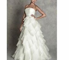 Organza A-line Strapless Wedding Dresses