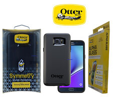 OtterBox Symmetry  Case for Samsung Galaxy Note 5 Black + Free Alpha Glass