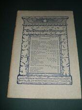 The Theosophic Messenger for Jan 1911 Occult, Religion, Philosophy Spiritualism