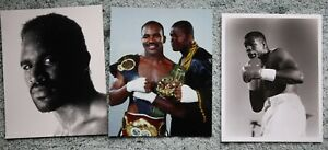 3 Different Promo Boxing Photos: Evander Holyfield & Riddick Bowe