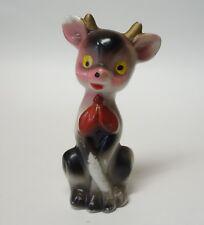 Vintage Christmas Winter Reindeer Figurine Japan Porcelain Ceramic Deer