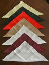 100% PURE SILK MENS HANDKERCHIEFS POCKET SQUARE HANDKERCHIEF CLASSIC DESIGN