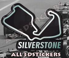 Adesivi Resinati 3D Circuito Silverstone 12x9 cm