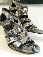 """Franco Sarto Women's Shoes Alegria Gray Snakeskin Print 4"""" Heel SIze 9.5 NWOB"""