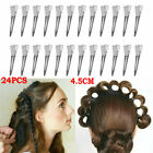 24 Sets Sprung Strong Grip Metal Hair Sectioning Clips Hairdressing Hair Clip