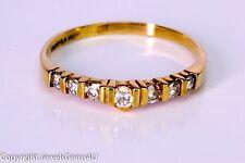 Magic-Glo 0.32ct Round Diamond Yellow Gold Wedding Anniversary Ring Band Vintage