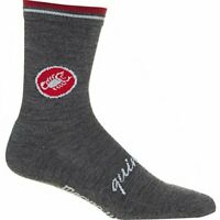 Castelli Quindici Soft Cycling/Outdoor Sock- Merino Blend Anthracite -S/M