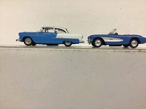 High Speed 1/87 HO 1955 Chevy  Bel Air & 1957 Malibu Corvette convertible