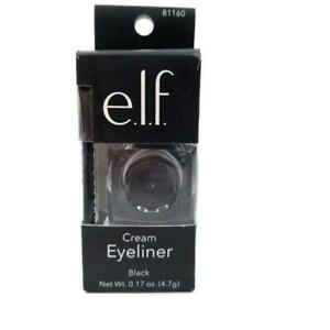 elf Cream Eyeliner Smooth Lines Smudge Proof Water Resistant Black 81160 NEW