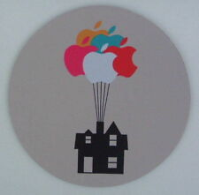 Bunch of Apple Balloons Lifting House ROUND MOUSEMAT mouse mat for Mac movie UP