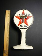 VINTAGE CAST IRON TEXACO GAS STATION  SIGN/ DOORSTOP