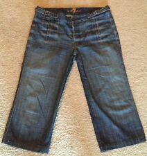 7 For All Mankind Button Fly Crop Trouser Jeans Capri Size 31 Women Ladies