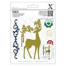 Xcut Dies Ornate Reindeer Die Cut Stencils 8 Pieces