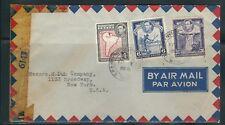 BRITISH GUIANA KGVI WWII CENSOR cover to NEW YORK USA