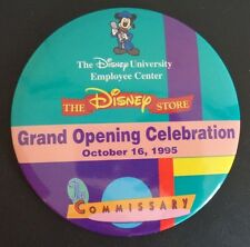 "THE DISNEY STORE Grand Opening Celebration 1995 Button 4"" Vintage MICKEY MOUSE"