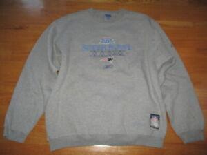 Reebok Super Bowl XXXIX Champs NEW ENGLAND PATRIOTS On-Field (LG) Sweatshirt