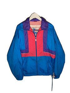 vintage 90s reebok neon Nylon windbreaker Jacket size mens M