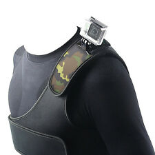 Single Chest Belt Shoulder Strap Mount For Gopro HERO 2 3 3+ 4 Sports Camera Kit