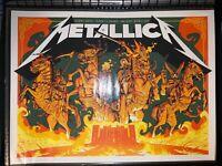 "NC 10//22//18 Spectrum Center LTD /""Foil Print/"" Metallica Vip Poster Charlotte"