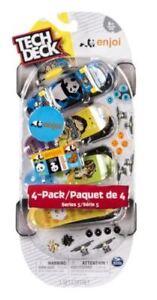 Tech Deck 96mm Skate Fingerboards (4 Pack) - ENJOI