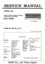 AIWA LX-100 LX 100 - TURNTABLE - SERVICE MANUAL IN COLOR VERSION - REPAIR -