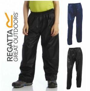 Regatta Stormbreak Kids Boys Girls Waterproof Rain Trousers Overtrousers RRP £20