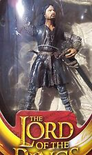 LOTR The Two Towers. HELMS DEEP ARAGORN with Sword Slashing Action Half-moon pkg