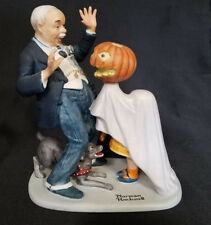 "Norman Rockwell Figurine ""Trick Or Treat"""