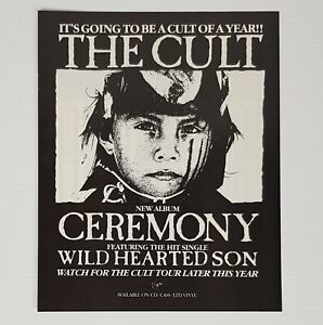 The Cult Print Advertisement for The Ceremony Album 1991 Vintage Ian Asbury