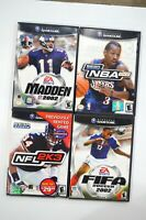Lot of 4 Nintendo Gamecube Games NBA 2K2 NFL 2K3 Madden 2002 Fifa 2002 CIB