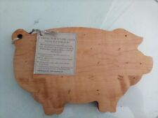 "J.K. Adams Small Pig Shaped Maple Wood Cutting Serving Board 10 by 6"" New Rustic"
