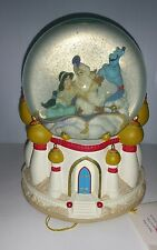 "DISNEY ALADDIN  "" A Whole New World "" MUSICAL SNOW GLOBE COLLECTIBLE"