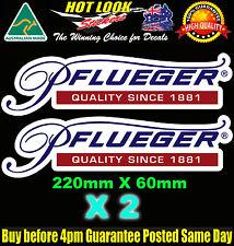 PFLUEGER Fishing Boat REEL ROD Decals Stickers X2 4 Fridge Dingy Tackle Box Bar