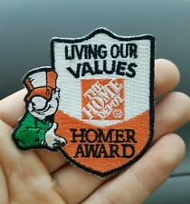 """The Home Depot """"living our values"""" Homer award iron on patch"""