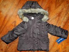 Winter Coat Dark Brown Hooded Rothschild Toddler Girl size 24 months New