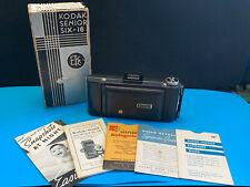 Vtg Collectible Kodak Senior Six-16 Folding Camera With Original Box & Paperwork