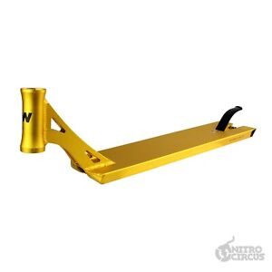 Nitro Circus R Willy Signature Pro Scooter Deck - Gold