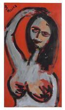 Femme nue peinture érotique par Jean-Pierre Alliès