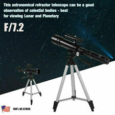 Wotefusi New Home Education Astronomy Astronomical Diameter 50mm Monocular Eyepiece Refractor Monocular Telescope with Tripod Stand