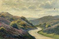 Naturalist Karl Emil Lundgreen 1884-1934 Weite Landschaft Dänemark 32 x 48,5 cm