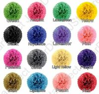 "30 X Tissue Paper Pom-Poms  8"" 10"" 15""  Flower Wedding Party Home Outdoor Decor"