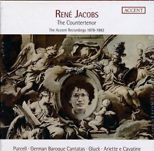 Rene Jacobs The Countertenor CD NEW Accent Recordings 1978 - 1982 German Baroque