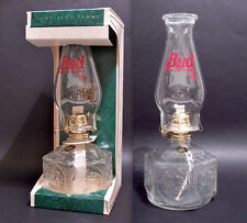 BUD BEER - LUME LAMPADA AD OLIO IN VETRO, LAMPLIGHT FARMS BUD BEER CM. 37 - RARA