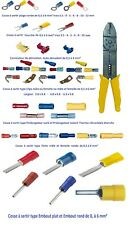 Cosse électrique isolée ronde fourche clips dérivateur manchon de 10-25 ou 50