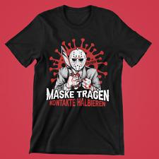 Maske tragen Kontakte halbieren Jason Herren T-Shirt AHA-Formel the Purge #MTKH-