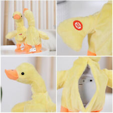 Electric Plush Duck Walking Pet Battery-Powered Stuffed Animal Toy