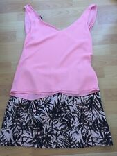 River Island  Top + Metallic Skirt New look  Size 12 Holiday Summer