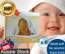 6 Boxed of 6 pk Little Angel Baby 80 Wipes Unscented Fragrance Free = 2880 wipes