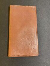 Hartmann Brown Leather Checkbook Wallet